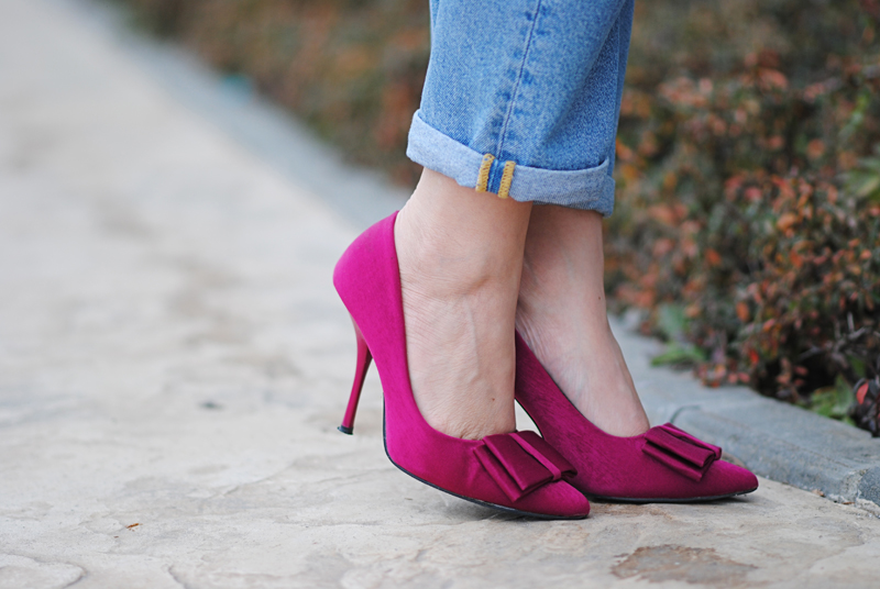 fuchsia shoes